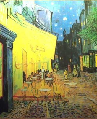 کافه تراس در شب اثر ون گوگ