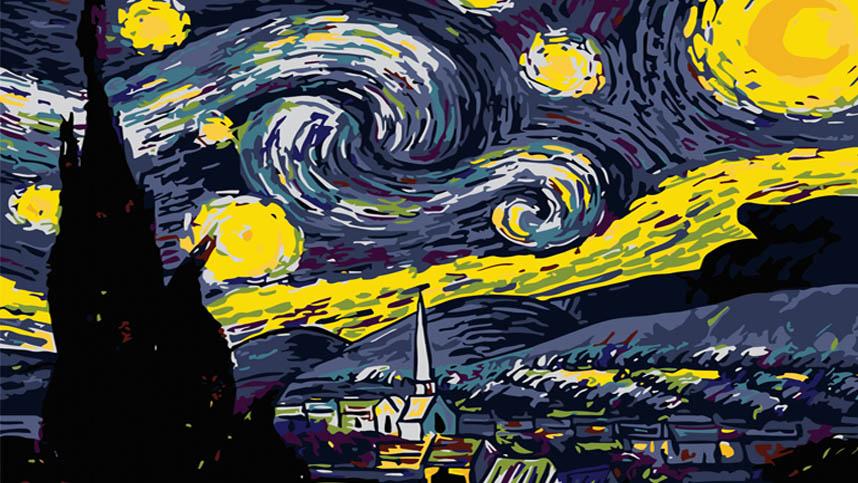 تابلو شب پر ستاره – یک دقیقه آرامش