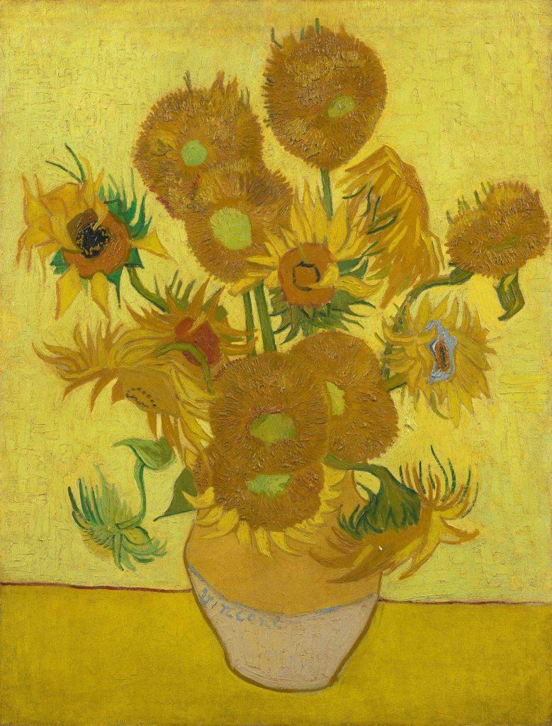 تابلوی گلهای آفتابگردان ونگوگ