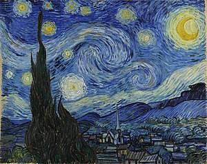 تابلو شب پرستاره اثر ون گوگ